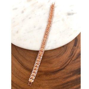 Jewelry - Peach Crystal Tennis Bracelet